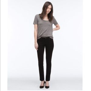 AG the stilt cigarette leg jeans black